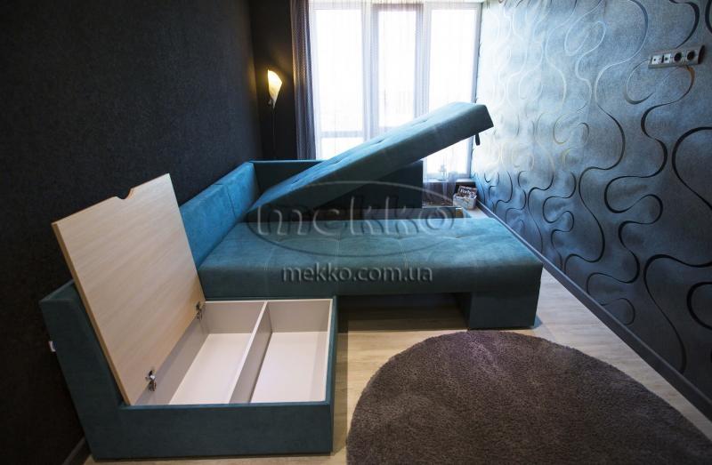 Кутовий диван з поворотним механізмом (Mercury) Меркурій ф-ка Мекко (Ортопедичний) - 3000*2150мм  Долина-7